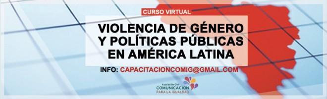 Curso virtual sobre violencia de género y políticas públicas