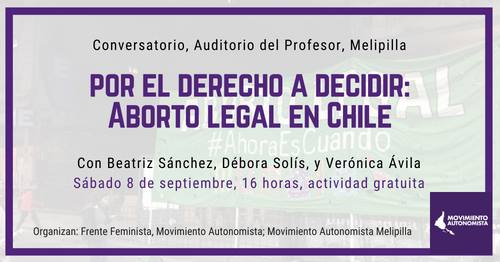 Conversatorio Por el derecho a decidir: Aborto legal en Chile
