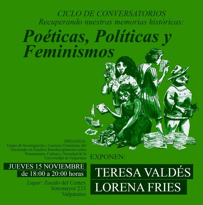 Ciclo conversatorios: poéticas, políticas y feminismos