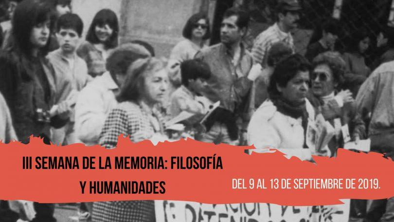 III Semana de la Memoria: Filosofía y Humanidades